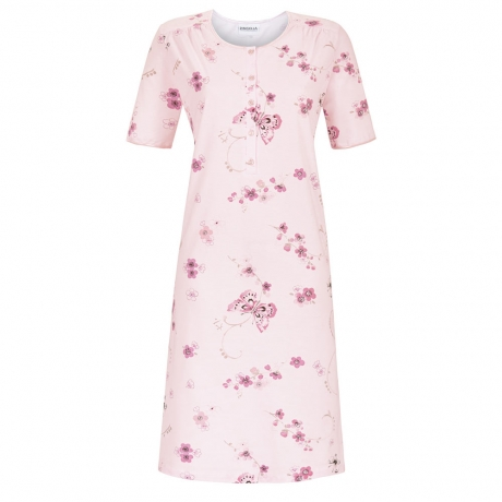 bd56b48df Butterfly Short Sleeve Cotton Nightdress - Buttoned top pure cotton  nightdress in a delicate summer print. Finished with luxury satin trim  round the neck ...