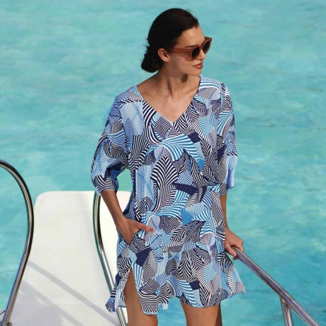Riviera Chic Garda Tunic Beach Dress