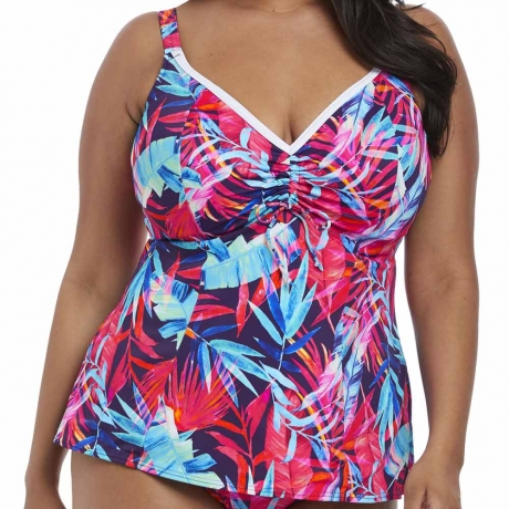 Paradise Palm Moulded Cup Tankini Top Paradise Palm