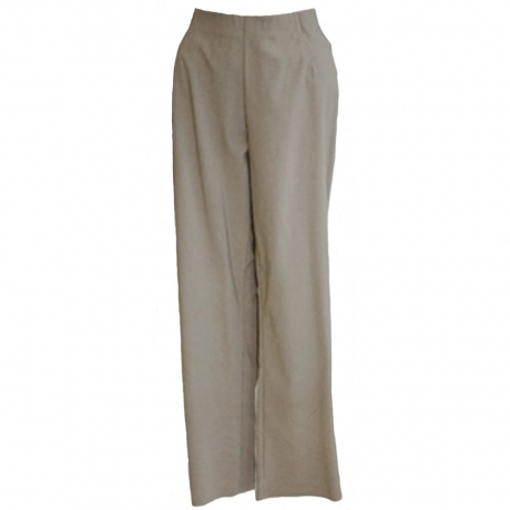 Slim Fit Pull On 7/8 Stretch Trousers