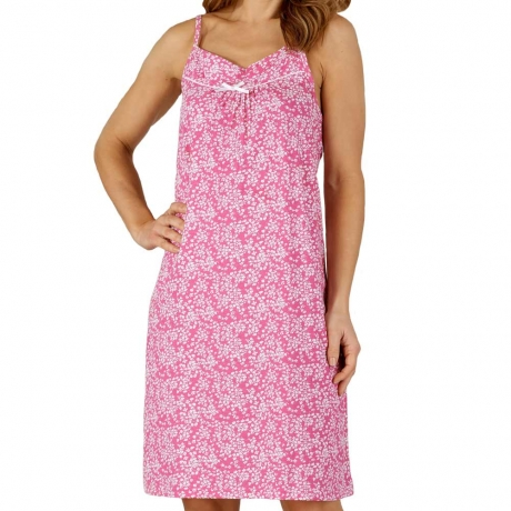 Floral Print Spaghetti Strap Cotton Nightdress