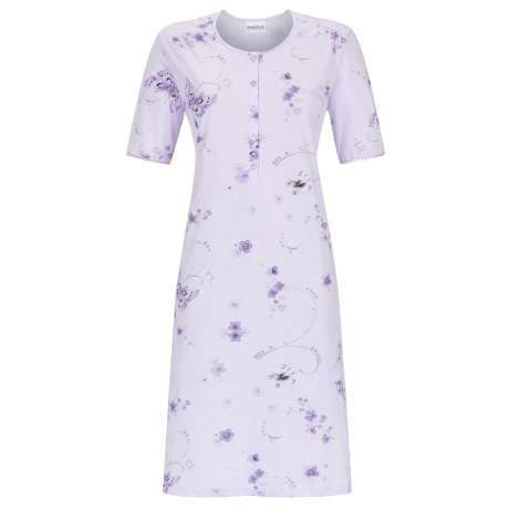 Butterfly Short Sleeve Cotton Nightdress