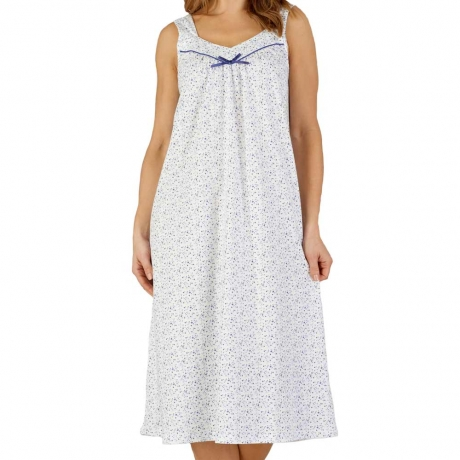 Ditsy Floral Broad Strap Cotton Nightdress