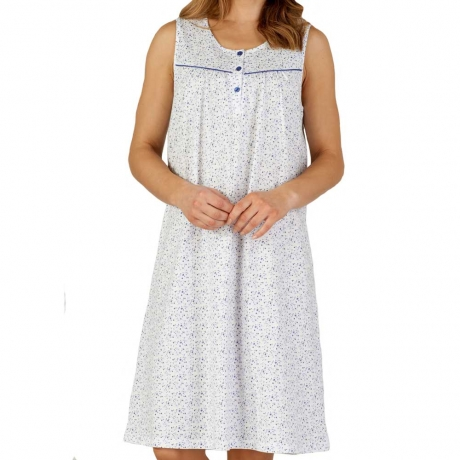 Ditsy Floral Sleeveless Cotton Nightdress