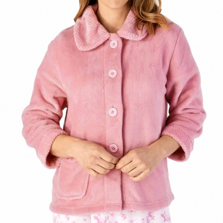Classic Button Opening Cosy Bedjacket