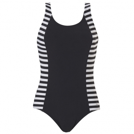 Regular Stripe Chlorine Resistant Moulded Cup Swimsuit