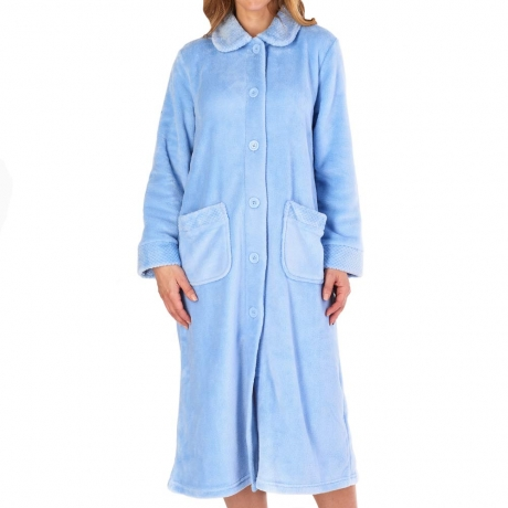 Classic Button Opening Cosy Housecoat