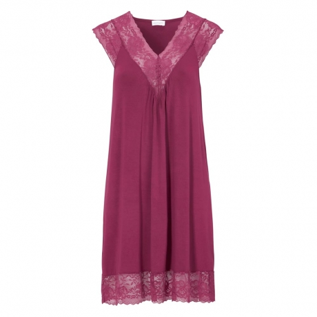Luxury Cap Sleeve V-neck Lacy Nightdress