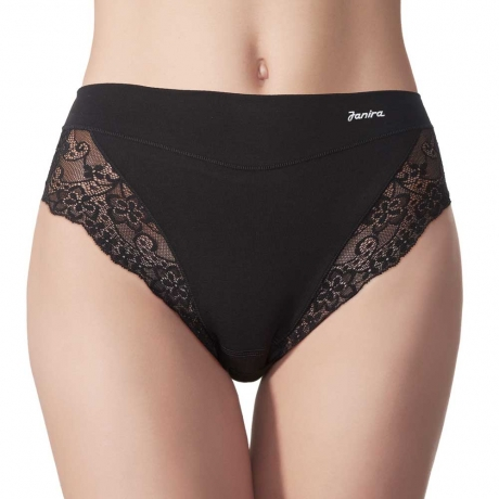 Essential Queen Cotton & Lace Brief 2 Pack