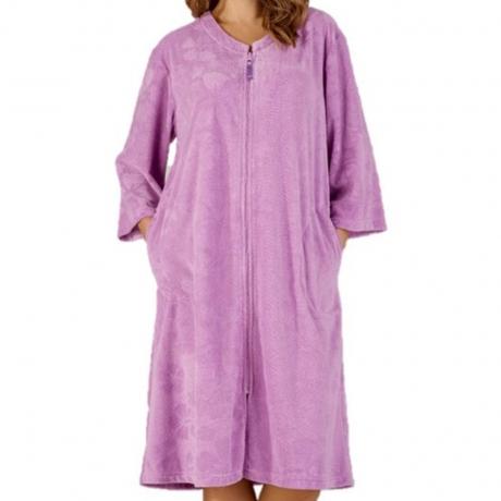 Slenderella Housecoat in lilac HC3306