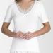 Embroidered Motif Short Sleeve Cotton Vest